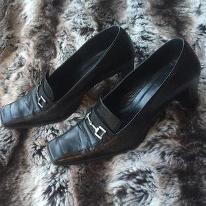 Gucci block heel shoes 38.5
